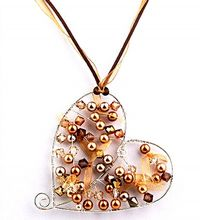 Wirework Chic Heart Pendant Jewellery Making Kit with SWAROVSKI® ELEMENTS Gold Tones